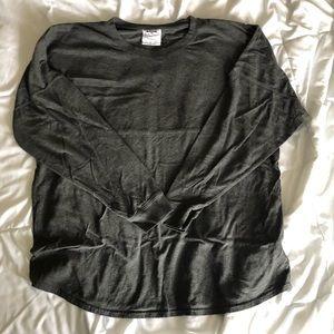 Charcoal gray Spirit/ Football long sleeve shirt